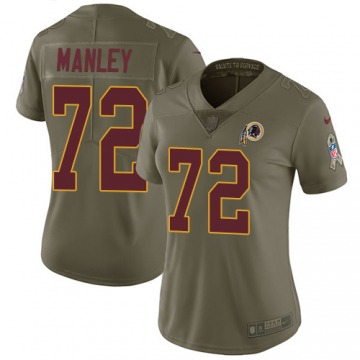 Women's Washington Redskins Dexter Manley Olive Limited 2017 Salute to Service Jersey By Nike