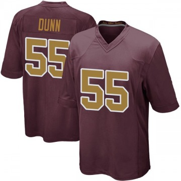 Youth Washington Redskins Casey Dunn Game Burgundy Alternate Jersey By Nike