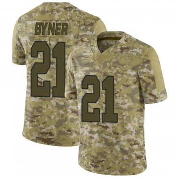 Youth Washington Redskins Earnest Byner Camo Limited 2018 Salute to Service Jersey By Nike