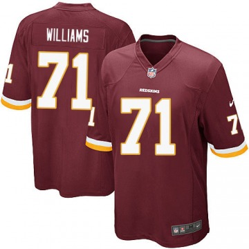 Youth Washington Redskins Trent Williams Red Game Burgundy Team Color Jersey By Nike